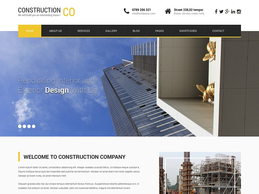 SKT Construction Pro WordPress theme