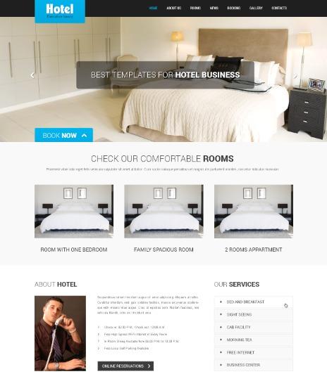 SKT Hotel best portfolio WordPress theme