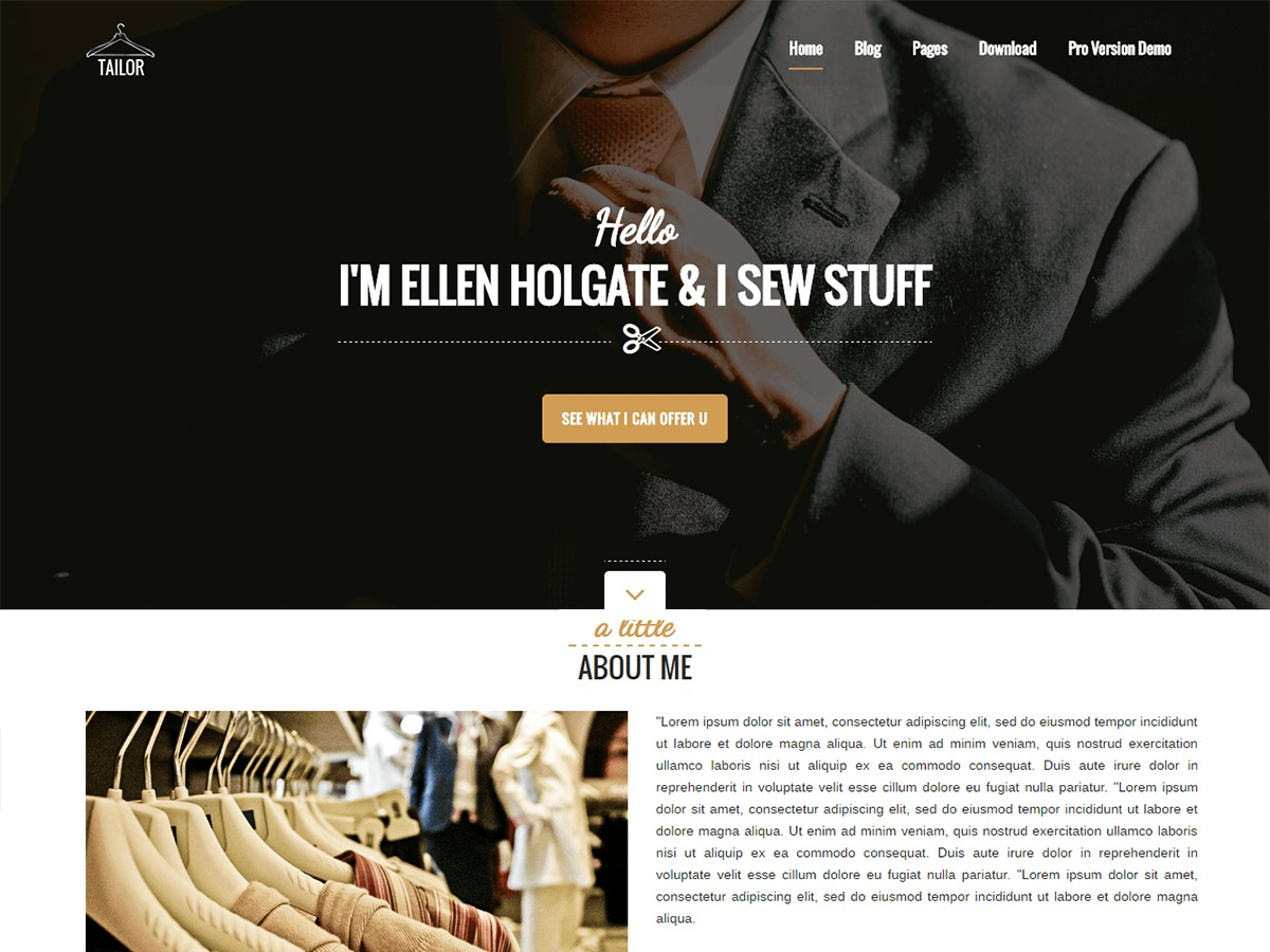Tailor free WP theme