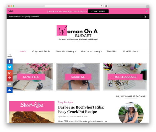 Free WordPress BlossomThemes Email Newsletter plugin - womanonabudget.com