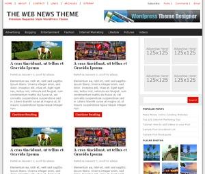 The Web News newspaper WordPress theme