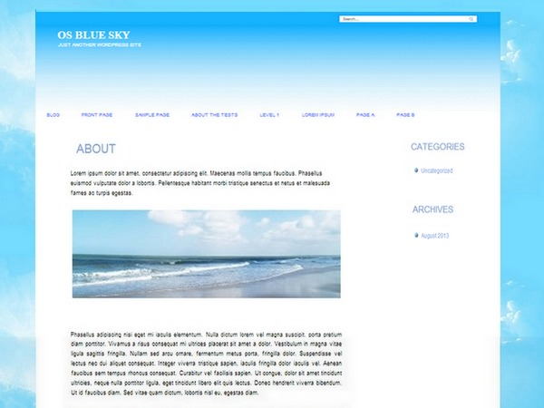 Theme WordPress OS Blue sky