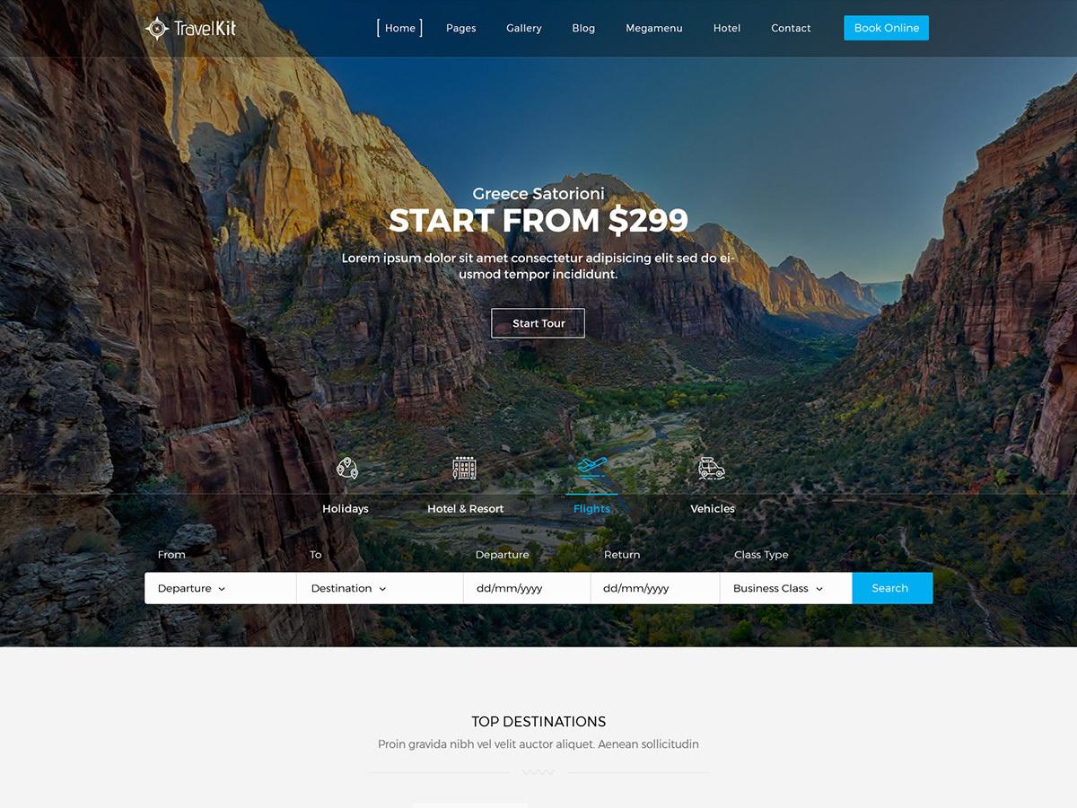 Travelkit Child WordPress travel theme