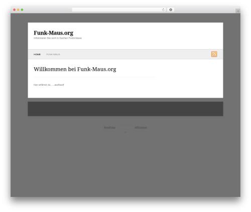 WordPress theme Fresh & Clean - funk-maus.org