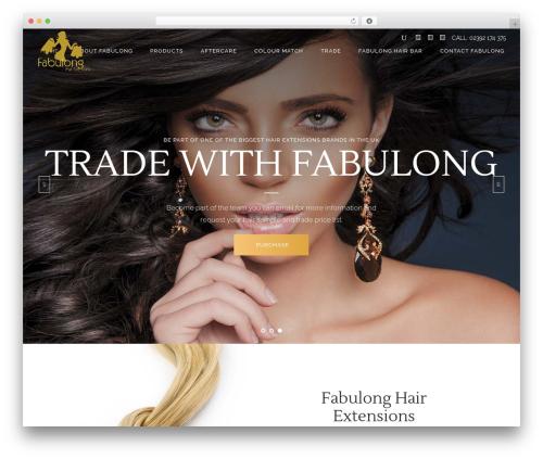 WordPress theme Kendall - fabulonghair.co.uk