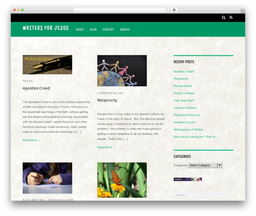 WordPress website template Magazine - writersforjesus.com