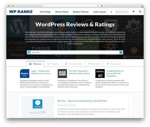 WordPress menufication plugin - wpranks.com