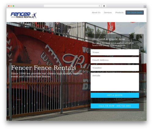 WP template Getleads - fencerrentals.com