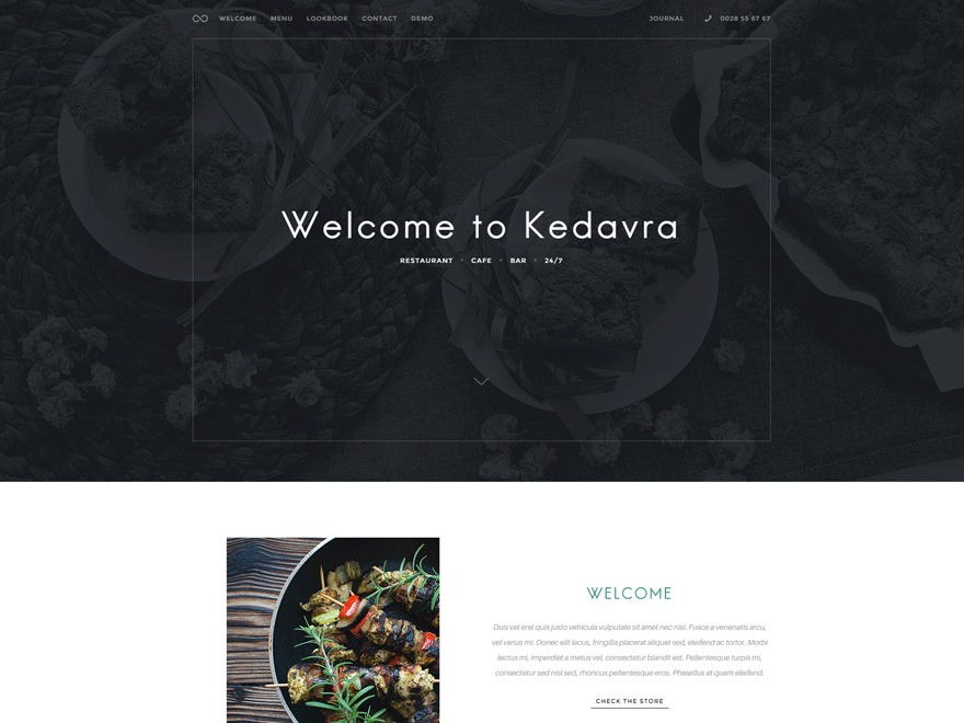 WP theme Kedavra Child