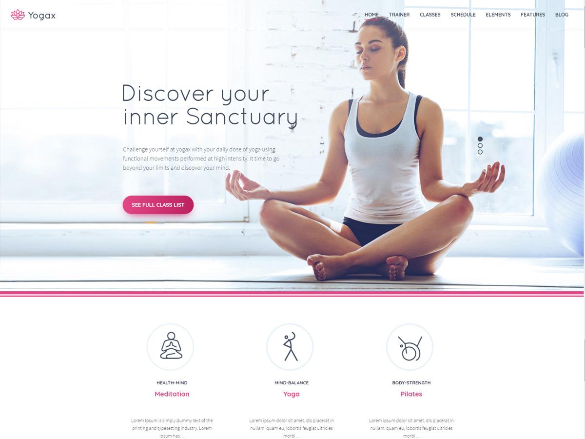 Yogax fitness WordPress theme