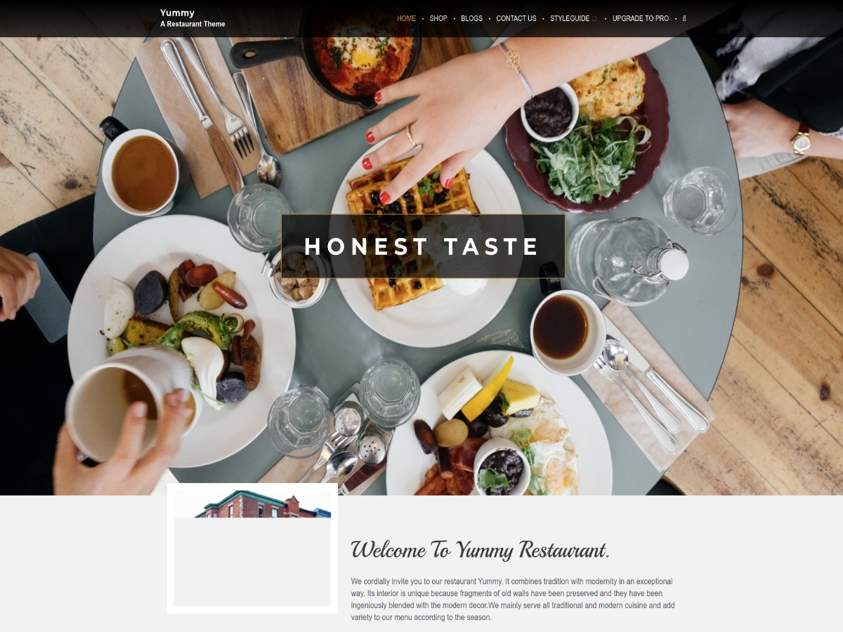 Yummy free WordPress theme