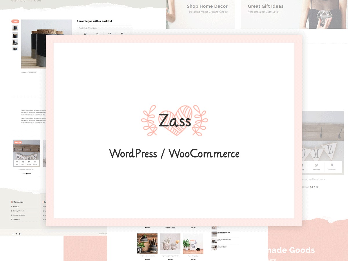 Zass WordPress shopping theme