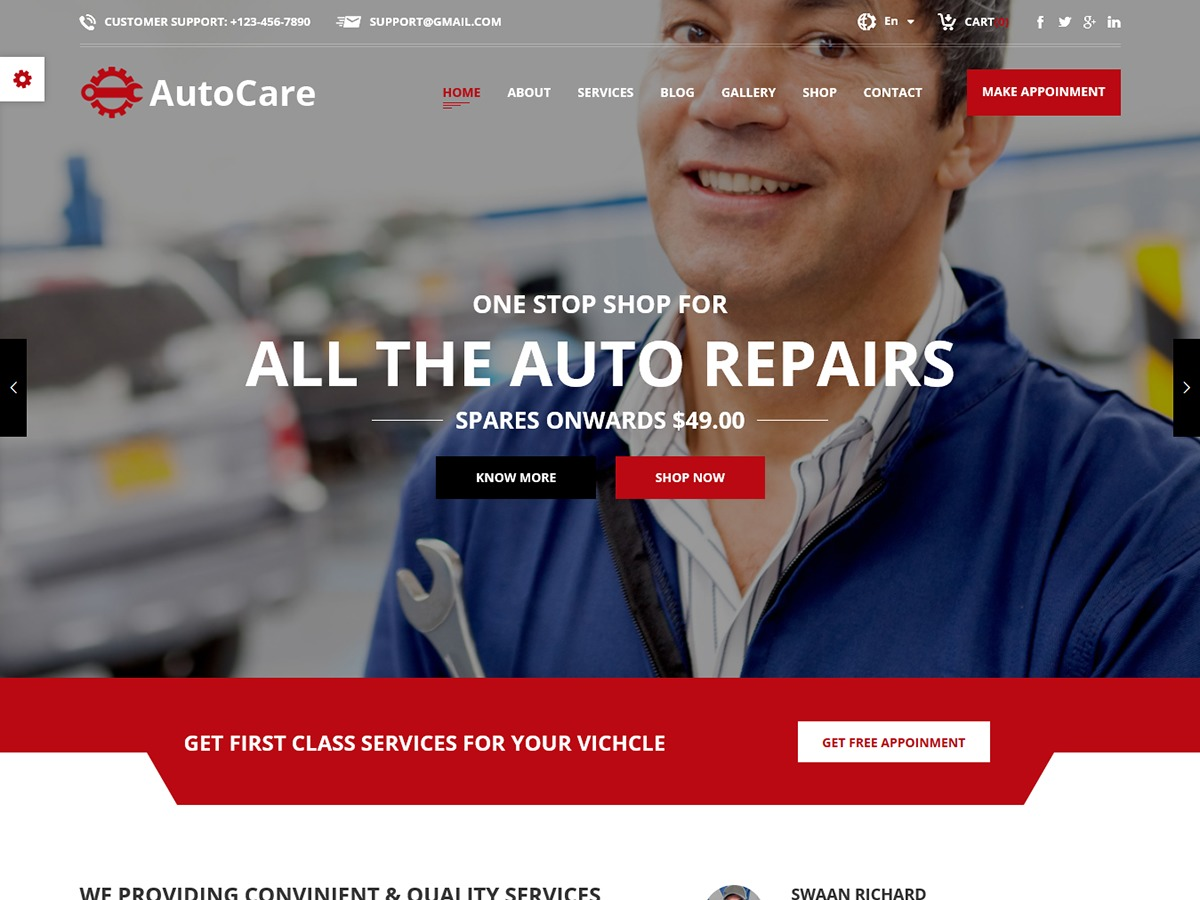 Autocare top WordPress theme
