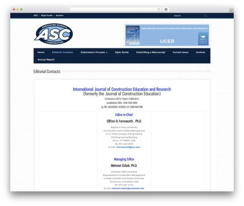 Best WordPress theme Bangkok Press - ascjournal.ascweb.org