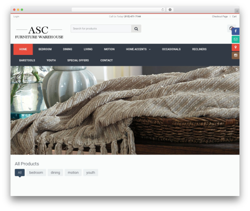 WordPress Slider Revolution plugin - ascfurniturewarehouse.com