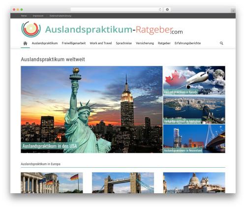 Newspaper WordPress magazine theme - auslandspraktikum-ratgeber.com