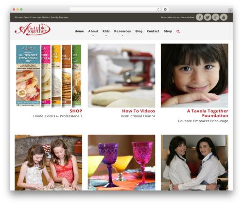 Organique WP Theme theme WordPress - atavolatogether.com
