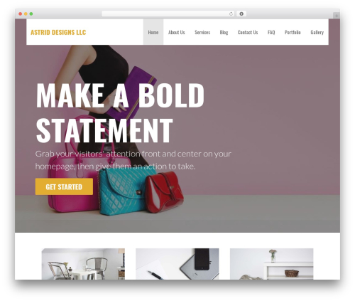 Primer WordPress page template - astrid-designs.com