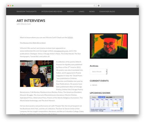 Sumo WordPress theme design - artinterviews.org