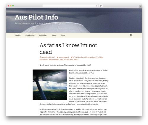 Twenty Thirteen best WordPress theme - auspilotinfo.com