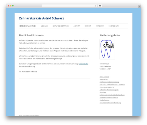 Twenty Twelve theme WordPress - astrid-schwarz.de
