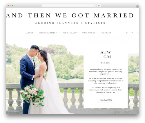 WordPress Slider Revolution plugin - andthenwegotmarried.com