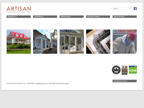 WordPress theme Artisan Construction