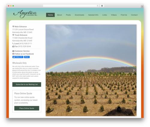 Angelica WordPress theme - angelicanurseries.com