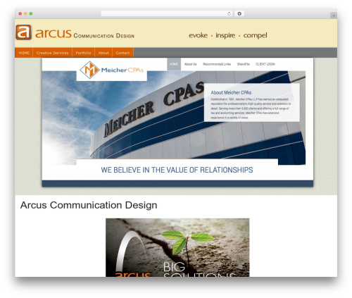 Builder WordPress theme - arcuscommunicationdesign.com