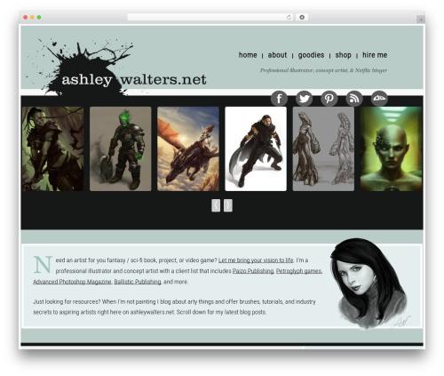 Coller free WP theme - ashleywalters.net