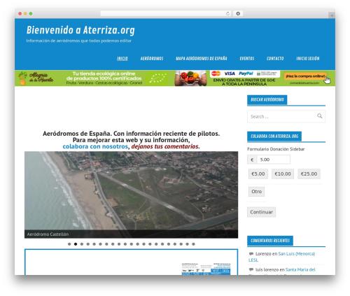 Glades best free WordPress theme - aterriza.org