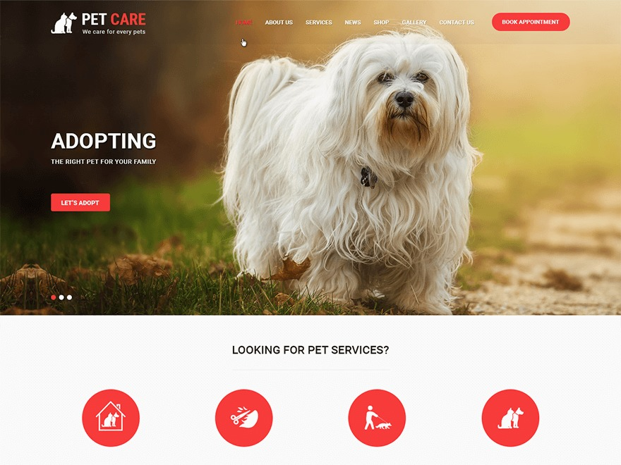 Pet Care WordPress store theme
