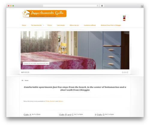 Swagger top WordPress theme - appartamentigallosottomarina.com