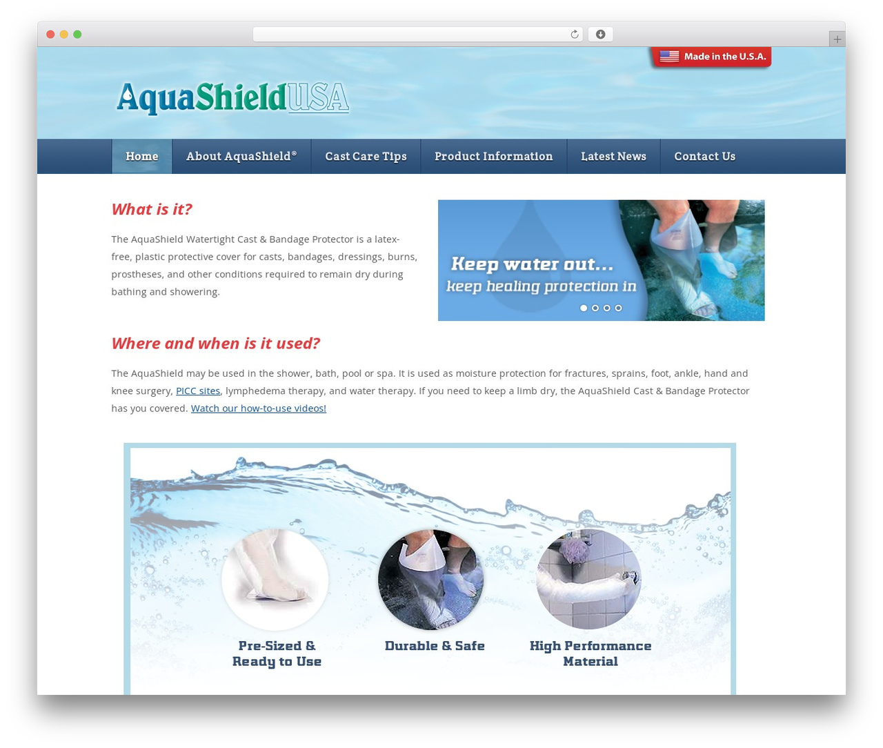Theme WordPress template - aquashieldusa.com