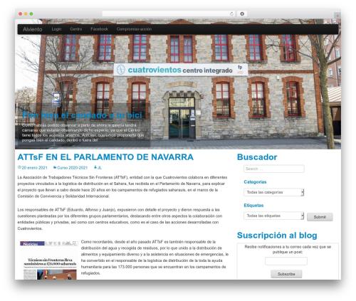 WP StrapSlider Lite WordPress theme design - alviento.cuatrovientos.org