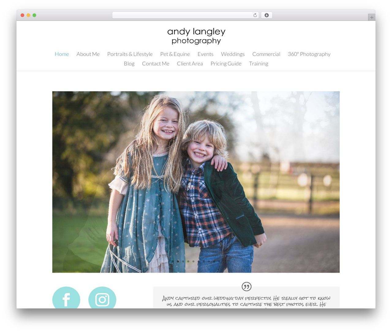 Divi photography WordPress theme - andylangleyphotography.com