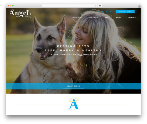 Doodle Dog Custom Theme WordPress template for business - angelpetsitting.com