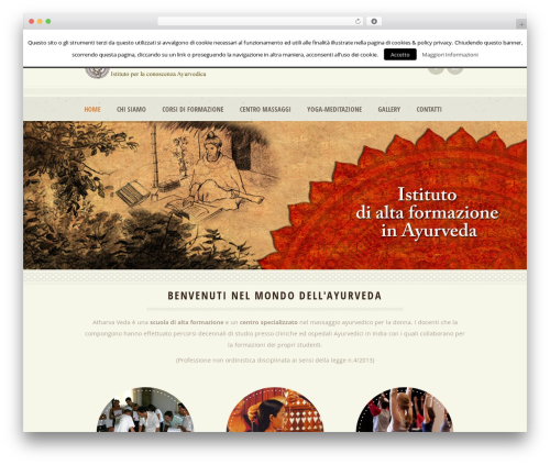 Dream Spa top WordPress theme - ayurvedamassaggio.it