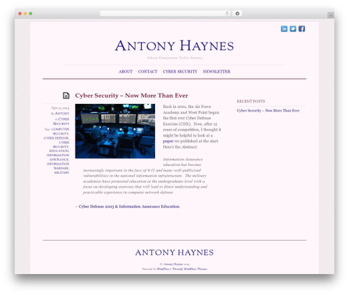 Elemin WordPress theme - antonyhaynes.com