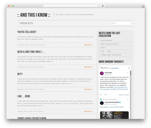 Hannari WordPress theme - andthisiknow.com