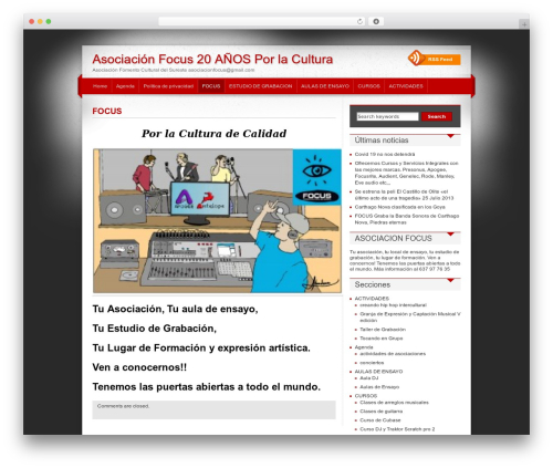iDream WordPress page template - asociacionfocus.org
