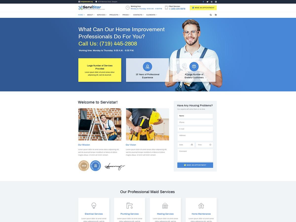 Johnnygo WordPress website template