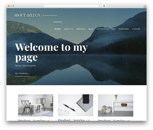 Primer WordPress template - azlicn.com