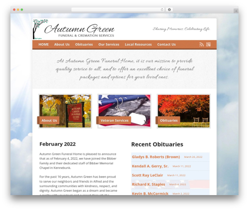 Template WordPress Risen - autumngreenfuneralhome.com