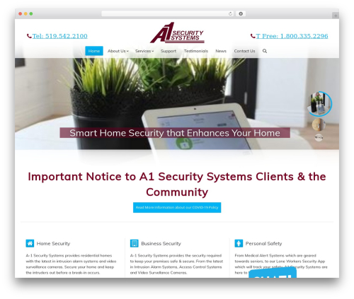 The7 medical WordPress theme - a1security.com