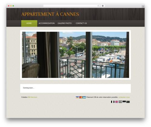 Theme BMS theme WordPress - appartement-vacances-cannes.com