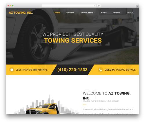 Towy WordPress theme - aztowinginc.com