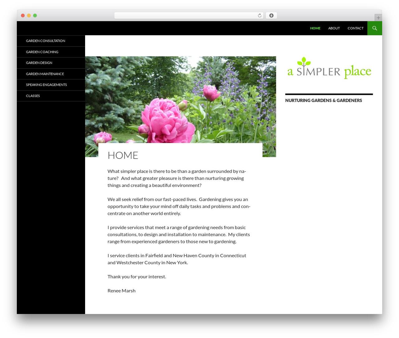 Twenty Fourteen WordPress template - asimplerplace.reneemarsh.com