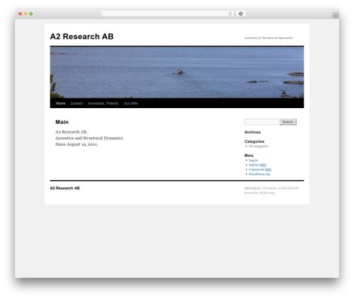 Twenty Ten WordPress theme - a2research.se