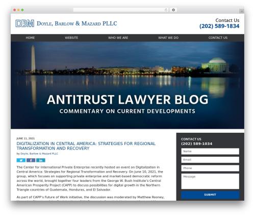 Willow-Responsive WordPress blog theme - antitrustlawyerblog.com